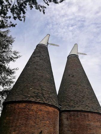 Des oast houses dans le Kent