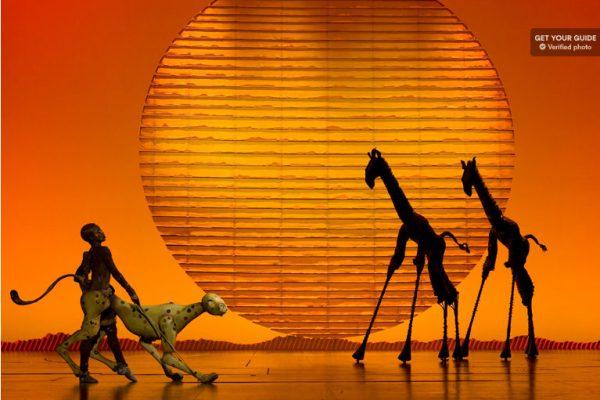 Scène de la comédie musicale du Roi Lion à Broadway
