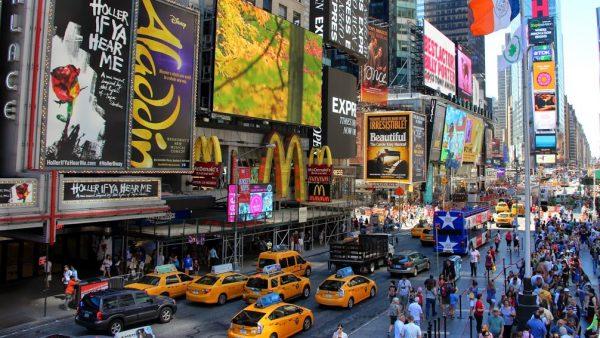 Affiches de comédies musicales à Times Square