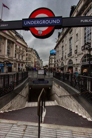 Station de métro à Londres