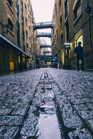 La rue Shad Tames à Londres