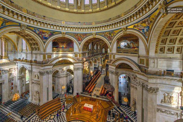 Accès au dôme de la cathédrale Saint-Paul de Londres