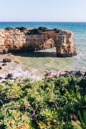 L'arche de Albandeira en Algarve