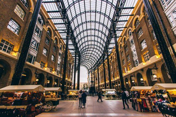 Dans la Hay's Galleria de Londres