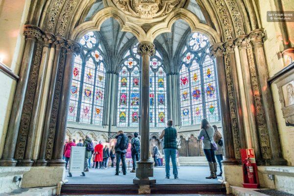 Intérieur de l'abbaye de Westminster à Londres