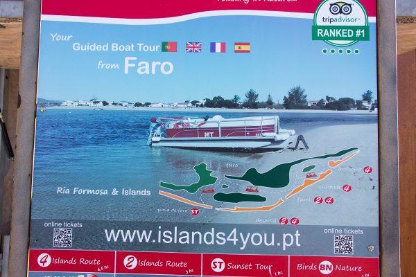 Affiche de l'excursion dans la Ria Formosa
