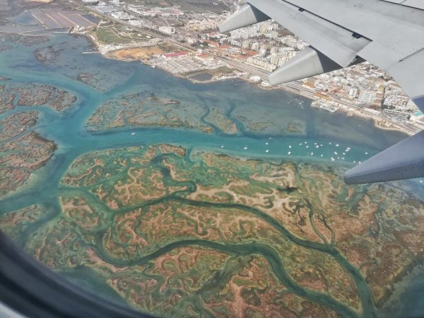 La Ria Formosa vue du ciel