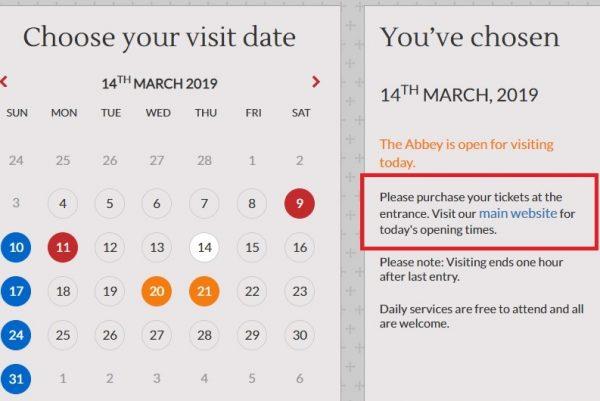 Site internet de l'abbaye de Westminster