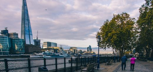 The Shard vue depuis les quais de Londres