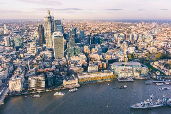Une vue sur Londres depuis l'Observation Desk de The Shard