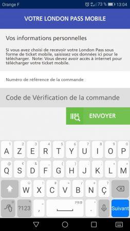 Application mobile du London Pass