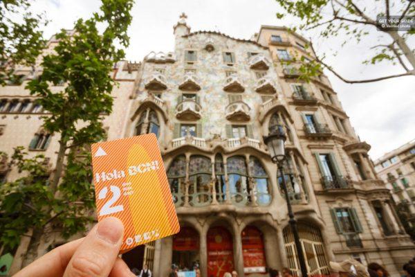 La carte Hola BCN de Barcelone