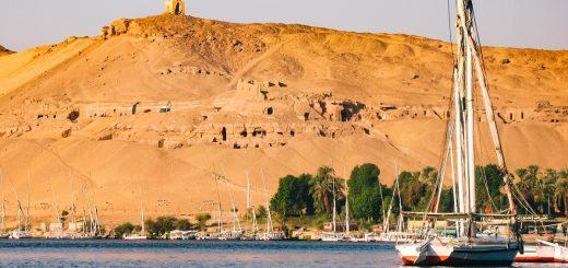 Felouque sur le Nil à Assouan
