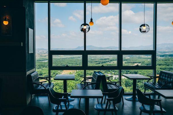 Café dans l'observatoire de Dora dans la DMZ