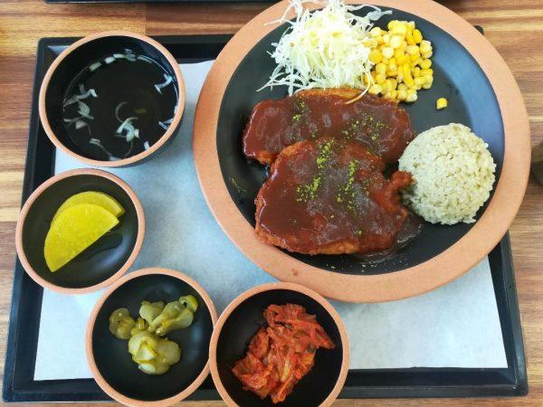 Plat à base de thé de Boseong