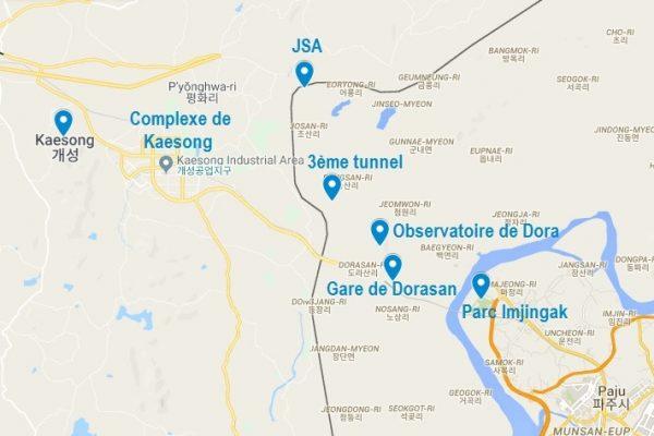 Points d'intérêt de la DMZ en Corée
