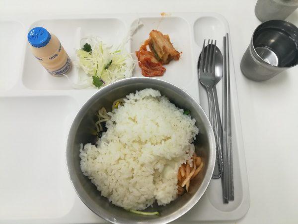 Le repas du midi lors de la visite de la DMZ