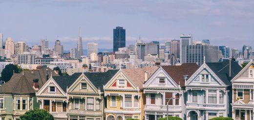 Vue sur San Francisco depuis Alamo Square