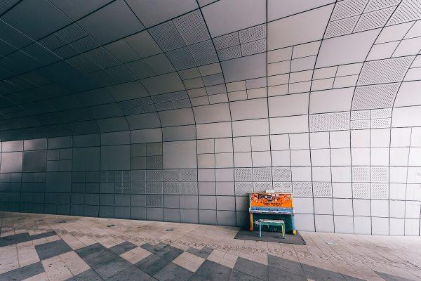 Dans le Dongdaemun Design Plaza à Seoul