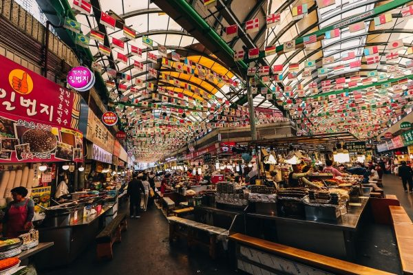 Le Gwangjang Market à Séoul