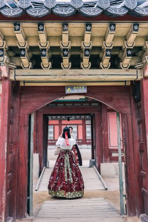 Dans le palais Gyeongbokgung à Séoul