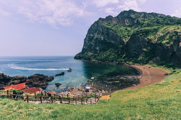 Le pic de Seongsan Ilchulbong à Jeju