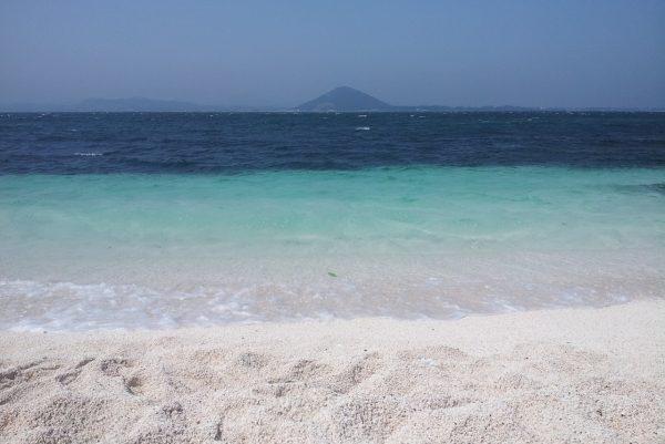 Sur la plage de Seobin Baeksa à Udo