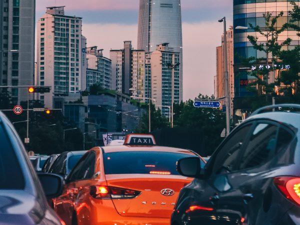 Un taxi à Séoul