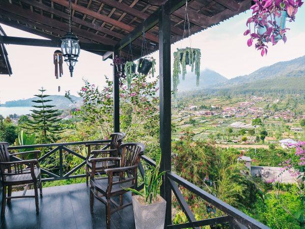 Dans une villa à Bali