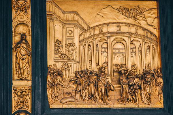 Gravure sur le baptistère de Florence