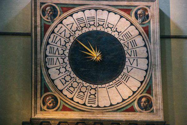 Peinture de l'horloge dans la cathédrale de Florence