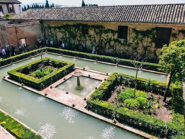 Dans les jardins de Generalife