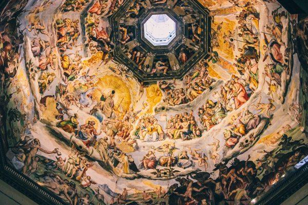 Peintures sous la coupole de la cathédrale de Florence