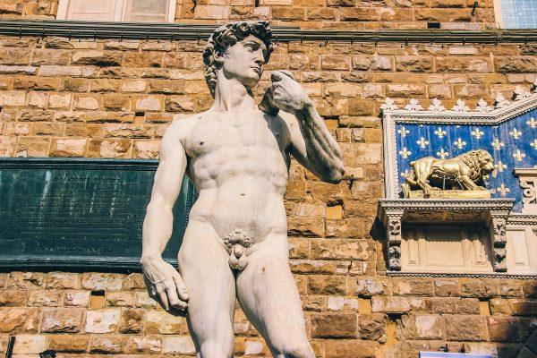 Réplique de la statue de David à Florence