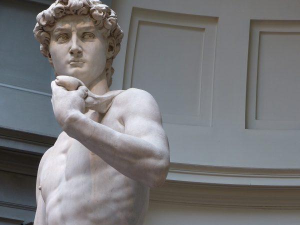 Le David de Michel Ange dans la Galerie de l'Académie à Florence