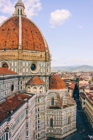 Vue sur la cathédrale de Florence depuis le campanile