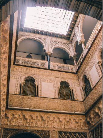 Dans les palais de l'alcazar de Séville