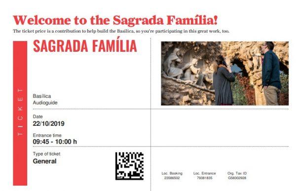 Billet en ligne pour visiter la Sagrada Familia