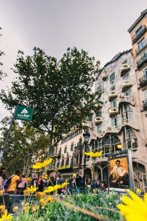 La Casa Batllo sur le Passeig de Gracia à Barcelone