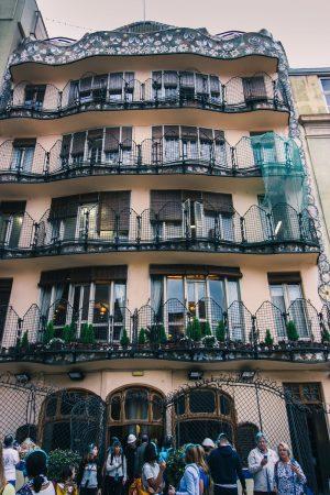 Façade arrière de la Casa Batllo de Barcelone