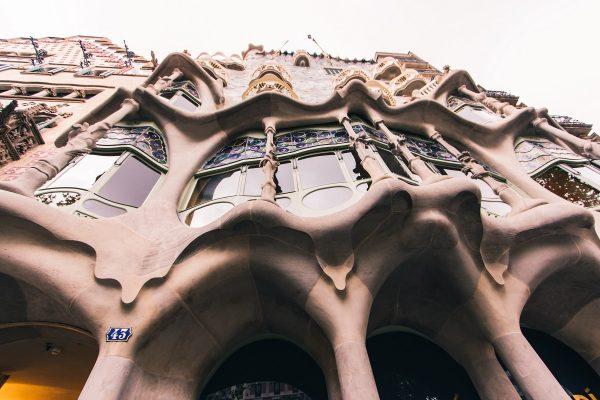 Façade de la Casa Batllo de Barcelone