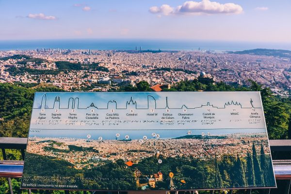 Panorama sur Barcelone depuis le Tibidabo