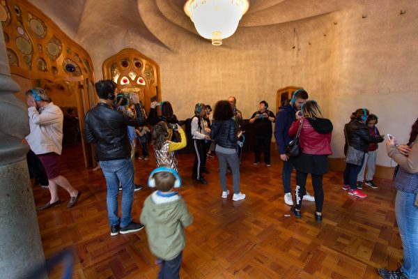 Pièce à visiter dans la Casa Batllo de Barcelone