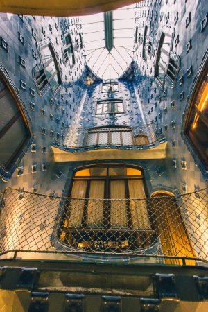 Puits de lumière de la Casa Batllo de Barcelone