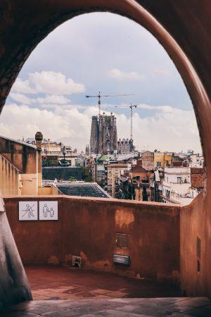 La Sagrada Familia vue depuis les toits de la Casa Mila