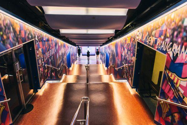 Couloir d'accès au stade de Barcelone