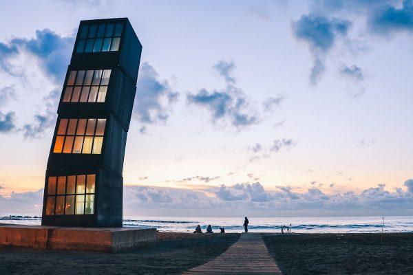 La plage de Barcelone
