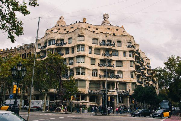 Façade de la Casa Mila (Pedrera) de Barcelone