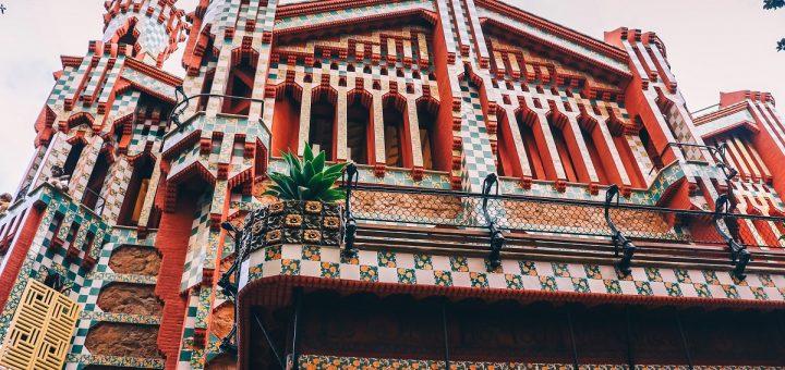 Façade de la Casa Vicens à Barcelone