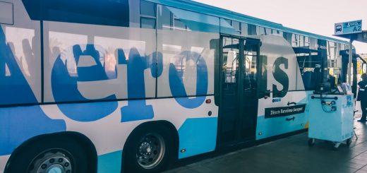 La navette Aerobus de l'aéroport de Barcelone